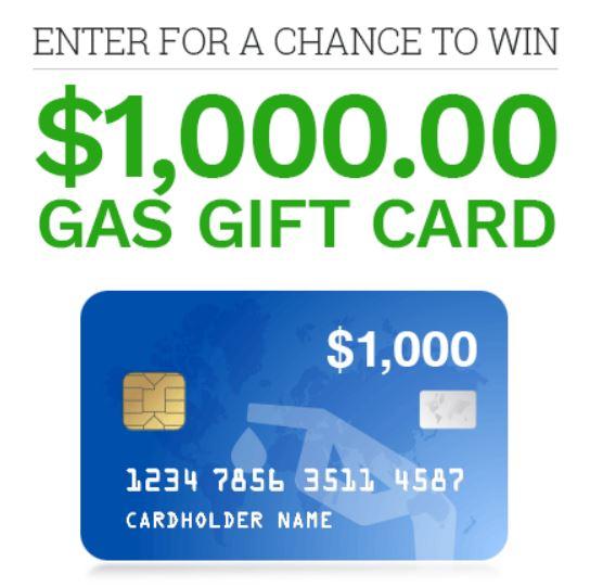 gas free 1000 dollars