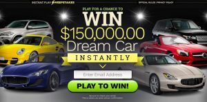 Instant Play Sweepstakes Car
