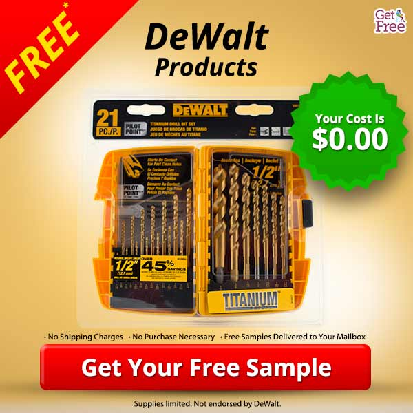 How to get free dewalt samples